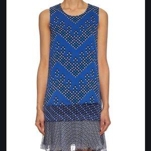 Diane Von Furstenberg Liza Silk Blend Blue Dress